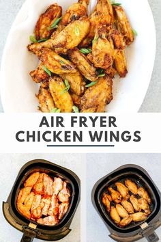 You won't believe how easy it is to make these Air Fryer Chicken Wings! Made with pantry staples, these crispy wings are finger-licking good! Air fried to golden perfection, these wings are going to disappear fast off your dinner table #airfryerchickenwings #airfryerchickenwingsrecipe Gluten Free Recipes For Breakfast, Best Gluten Free Recipes, Whole30 Recipes, Low Carb Recipes, Healthy Appetizers, Appetizer Recipes, Dinner Recipes, Chicken Wing Recipes, Healthy Chicken Recipes