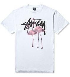 Stussy White Flamingos T-Shirt | Hypebeast Store ($24.00) - Svpply