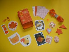 Orange Altered Matchbox by Pictures by Ann, via Flickr