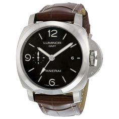 Panerai Men's PAM00320 'Luminor 1950 Acciaio' 3 Days Automatic Brown Watch