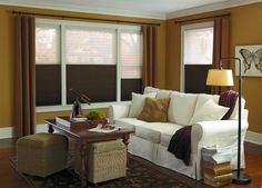 Cellular Shades In Dark Brown From Budget Blinds Grimsby Honeycomb