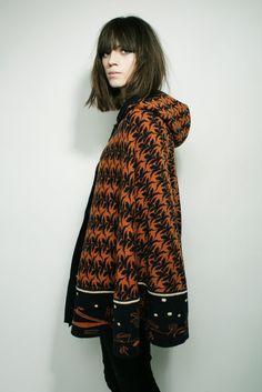 Winter poncho from Electric Sheep. wear a warm poncho or cape instead of buying a maternity jacket