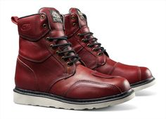 Roland Sands' Mojave Will Be The Last Motorcycle Boots You Ever Need Cowhide Leather, Leather Boots, Roland Sands, Moto Style, Motorcycle Boots, Oxblood, Fashion Boots, Hiking Boots, Combat Boots