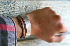 Cuff Bracelet, Stainless Steel cuff, Bangles, Wrist jewelry, Metal, Steel cuff, Hammared,, Chic, Fashion, For Him, For her, Wedding gift