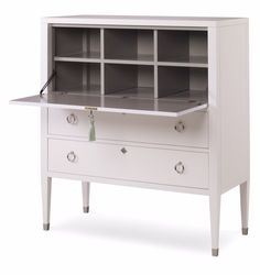 oomph - Easton Secretary Desk. Available in your choice of 16 colors. Choose a contrast color for the interior, brass or nickel hardware and your choice of tassel color.