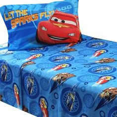 Disney Cars Bed Sheet Set Lightning McQueen City Limits Bedding Accessories: Twin