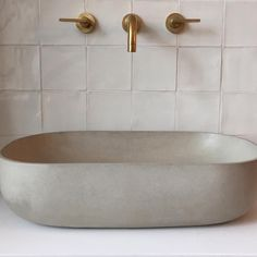 Isn't she lovely... Hand cast (hand polished?) concrete washbasin, so beautifully realised. #bertandmay #vynerstreet #interiordesign #bathroomdesign #polishedconcrete