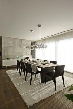 the existence of the dining room becomes a core thing. The dining room is like the heart of a house. The dining room decoration should be chosen carefully, because it's place that your family come together in one place. Modern Dining, House Design, Room Design, Dining Room Design, Luxury Dining Room, Home Decor, House Interior, Dining Room Contemporary, Dining Room Decor