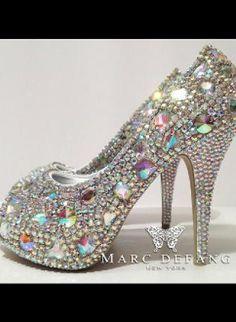 Ultimate Rainbow Snow Diamond Luxury Crystal Heels,  Shoes, crystal snow diamond heels pump party, Chic