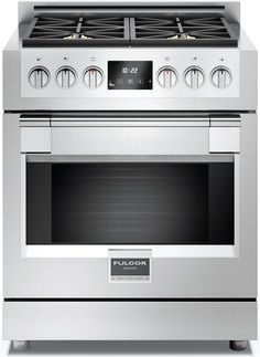 """Fulgor Milano F6PGR304S1 30"""" 600 Series Gas Freestanding. Fulgor Milano FREE Range Hood and FREE Dishwasher (up to $1998 value) Purchase a Fulgor Milano range OR a Fulgor Milano wall oven + cooktop and receive ventilation FREE! Add refrigerator and receive Dishwasher FREE! (you must buy cooking to qualify)   This is an instant discount deal. No mail-in rebate required."""
