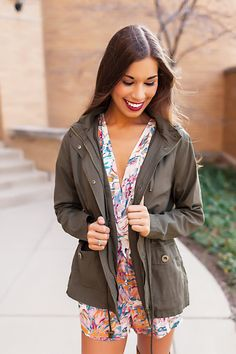 Olive Hooded Jacket - Dottie Couture Boutique