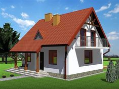 we life is good Modern Bungalow House, Tiny House, Style At Home, Yard Design, House Design, Inmobiliaria Ideas, Foto Transfer, Cottage Style Homes, Attic Rooms