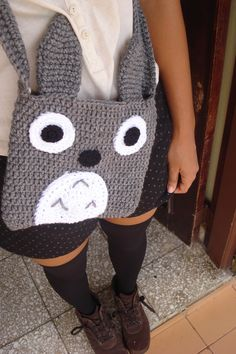 Crochet Totoro, Crochet Bear, Crochet Dolls, Crochet Food, Crochet Gifts, Harry Potter Crochet, Crocheted Jellyfish, Mochila Crochet, Crochet Backpack