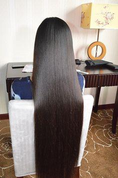 Indian Long Hair Braid, Braids For Long Hair, Long Hair Cuts, Beautiful Haircuts, Super Long Hair, Long Hairstyles, Gorgeous Hair, Sasuke, Asian Woman