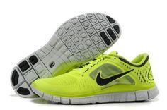 Real Nike Free Run 3 Mens Running Shoes - Fluorescence Yellow Black Sneaker