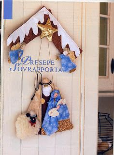 Enfeite de Porta Sagrada Família com molde e passo a passo