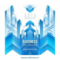 Abstract business background with blue arrows