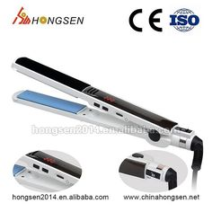 Electric appliances 2017 rotating best synthetic name brand flat iron hair straightener