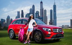 Brand new Mercedes Benz on offer for a hole in one #golf #uaegolf #golfuae