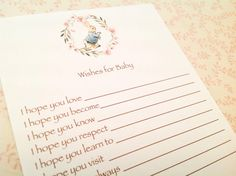 Wishes for Baby Cards-Peter Rabbit by ThePaperMarketplace on Etsy