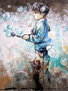 Alice Pasquini is an artist multimedia based in Roma : painting, illustration, installations  and animation are her main tools to create her poetical and hopeful artworks. Her main  subject is feminity, with a stress put on strong and independant woman.