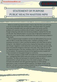 Public health graduate admissions essay