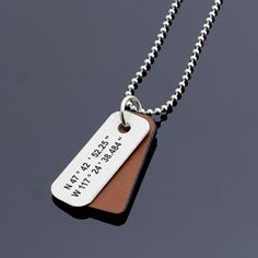 Personalized Coordinates Necklace GPS Necklace Latitude