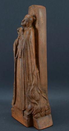 Art Deco Saint Joan of Arc Burning at the Stake Statue by Real Del Sarte – Charmantiques Saint Joan Of Arc, St Joan, Joan Of Arc Statue, French Sculptor, French Antiques, Terracotta, Saints, Lion Sculpture, Art Deco