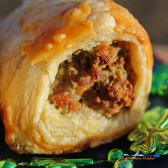 Irish Sausage Rolls are made with Irish sausage rolled in a blanket of golden brown pastry dough. A fun and tasty recipe to celebrate St. Patrick's Day! Irish Sausage, Denmark Food, Pork Roast In Oven, Puff Pastry Sheets, Puff Pastry Recipes, Irish Recipes, Scottish Recipes, Sausage Rolls, Rolls Recipe