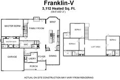Floor Plans for 4 Bedroom House with Large Loft