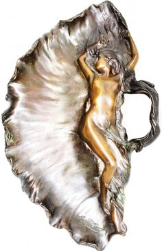 Lot: ALFRED-JEAN FORETAY BRONZE ART NOUVEAU NUDE, Lot Number: 0155, Starting Bid: $300, Auctioneer: Archive Auctions, Inc., Auction: ANTIQUES, FINE ART, ASIAN AUCTION, Date: May 19th, 2013 EDT