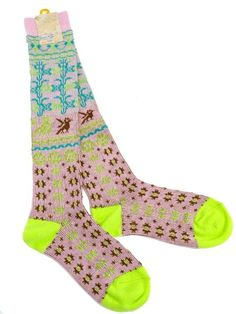 sock for those cold wintery nights Fashion Socks, Girl Fashion, Love Fashion, Cool Socks, My Socks, Colorful Socks, Designer Socks, Dressing, Tight Leggings