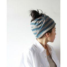 stripe wool turban