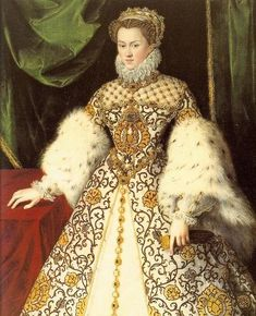 Elisabeth of Austria, Queen of France (1554-1592) painted by an unknown artist around 1574.