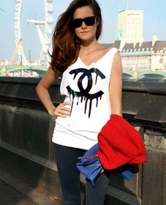 Create a DIY Chanel T-shirt Inspired by the Brand's Latest Advertisements #DIY trendhunter.com