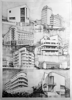Architecture sketches and drawings on vladbucur.ro