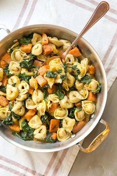 Recipe: Creamy Skillet Tortellini with Sweet Potato and Spinach