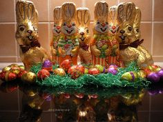 Chocolate Easter bunnies to ensure there is enough for friends who will be stopping by, as  we ALL love chocolate!