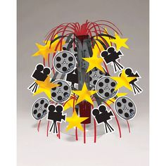 Reel Hollywood Mini-Cascade Centerpiece | Wally's Party Supply Store
