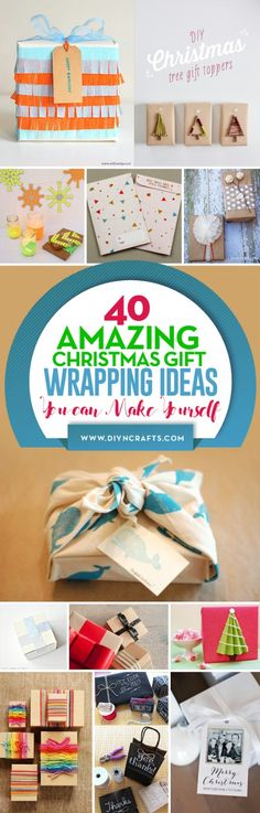 26 best card ideas images on pinterest gift ideas diy presents 40 amazing christmas gift wrapping ideas you can make yourself solutioingenieria Image collections