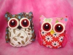 Fabric Plush Stuffed Owl Sewing Pattern Pin Cushion Toy Image