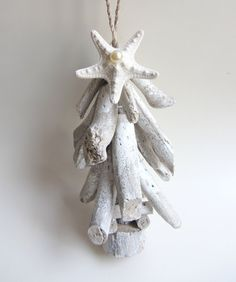 Driftwood Christmas Tree Ornament by CereusArt on Etsy, $15.00