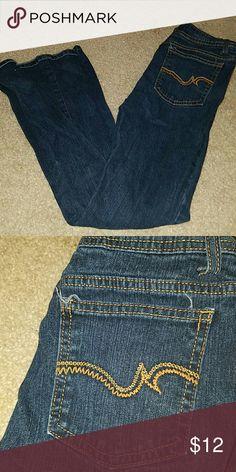 SO low rise boot cut dark jeans size 5 short SO low rise boot cut dark jeans size 5 short SO Jeans Boot Cut