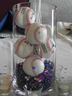 decorations at baseball banquet :)