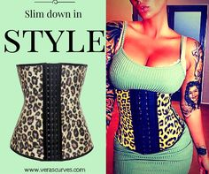 SLIM DOWN IN STYLE! Try our Luxe Body Trainers in 6 vibrant colors! http://www.verascurves.com/… #waisttraining #leopard