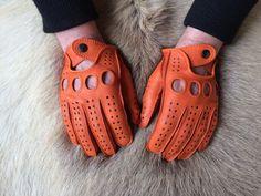 conducción guantes de cuero de los hombres por leathergloves4u