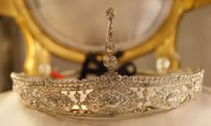 Curious belle epoque tiara