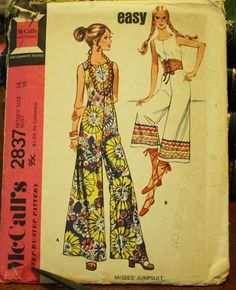McCall 28371970s 70s Palazzo Pants Jumpsuit by EleanorMeriwether