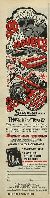 """Go with the Movers"" Snap-On Tools Ad"
