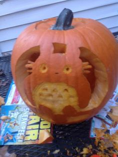 totoro pumpkin carving by Sugar-chann.deviantart.com on @DeviantArt